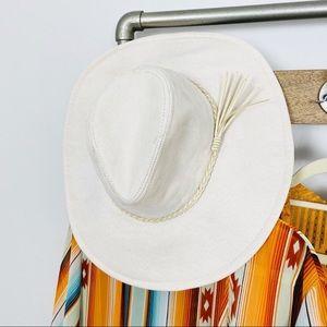 El Dorado Hat - Ivory Faux Suede